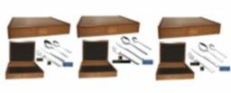 Cubiertos Personalizados (24, 75 ó 113 piezas) EN CAJA DE MADERA